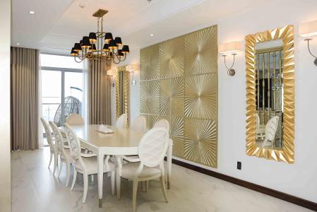 Căn hộ Vinhomes Central Park tầng cao, 4PN, đầy đủ nội thất
