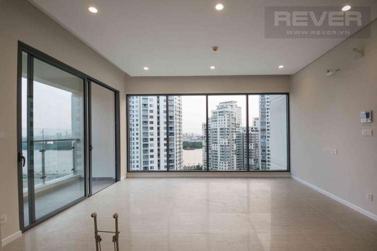 Phòng Khách Cho thuê căn hộ Diamond Island - Đảo Kim Cương 3PN tầng thấp tháp Canary, view sông và view tiện ích nội khu