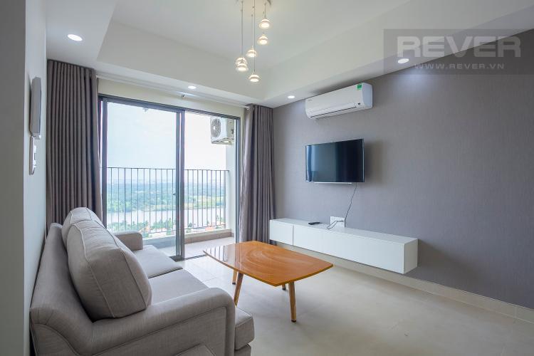 Phòng Khách Căn hộ Masteri Thảo Điền 3 phòng ngủ tầng cao T4 nội thất đầy đủ