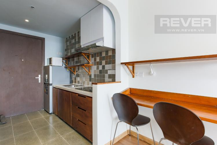 Phòng Bếp Căn hộ RiverGate Residence 1 phòng ngủ tầng trung tháp B nội thất đơn giản