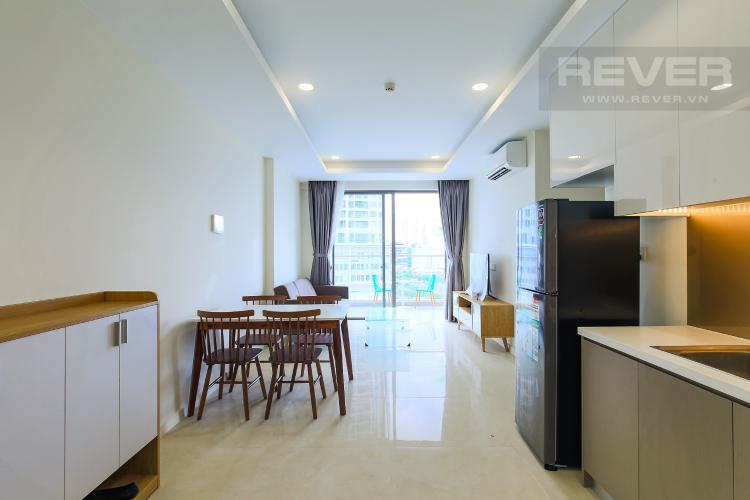Phòng Bếp Cho thuê căn hộ Masteri Millennium tầng trung, có ban công, 2PN