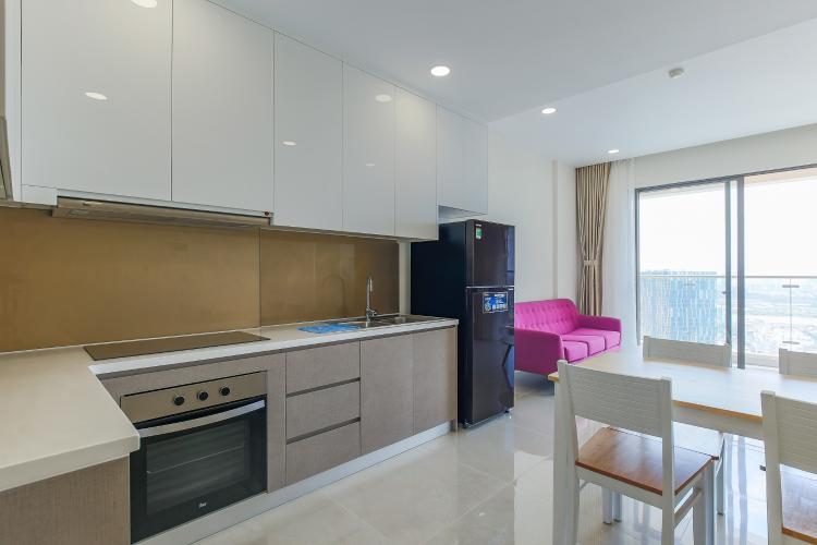 Cho thuê căn hộ Masteri Millennium tầng cao, 2PN, đầy đủ nội thất, view sông