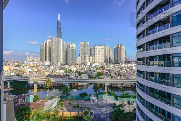 View Cho thuê căn hộ City Garden 2PN 2WC, đầy đủ nội thất, view sông