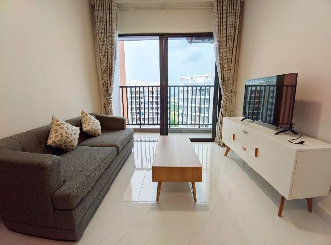 Phòng khách căn 2PN Safira Cho thuê căn hộ Safira Khang Điền đầy đủ nội thất, view nội khu.