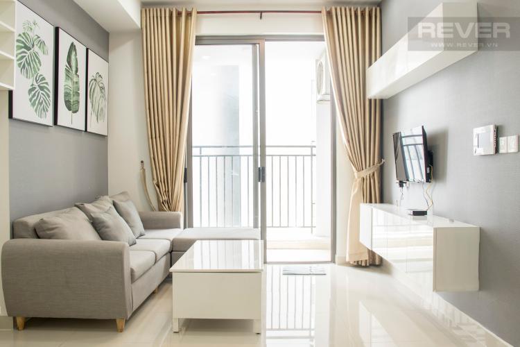 Phòng Khách Bán căn hộ The Tresor 2PN, tầng cao, diện tích 57m2, đầy đủ nội thất
