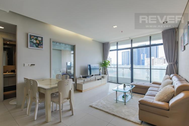 Phòng Khách Cho thuê căn hộ City Garden tầng trung 1 phòng ngủ, đầy đủ nội thất, view hồ bơi mát mẻ