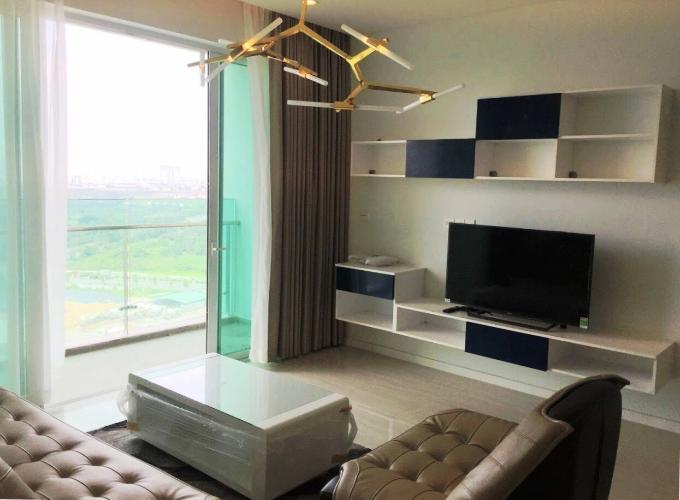 Phòng khách Sadora Apartment, Quận 2 Căn hộ Sadora Apartment tầng trung, view thành phố lung linh.