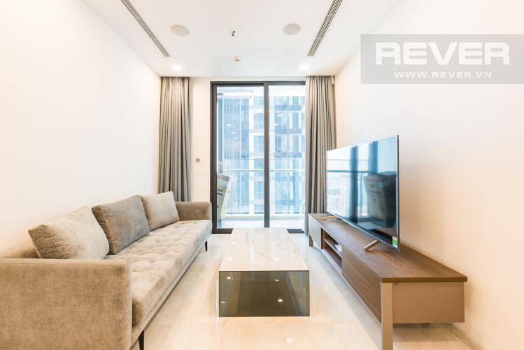 Phòng khách Căn hộ Vinhomes Golden River 1PN, đầy đủ nội thất, có thể dọn vào ở ngay