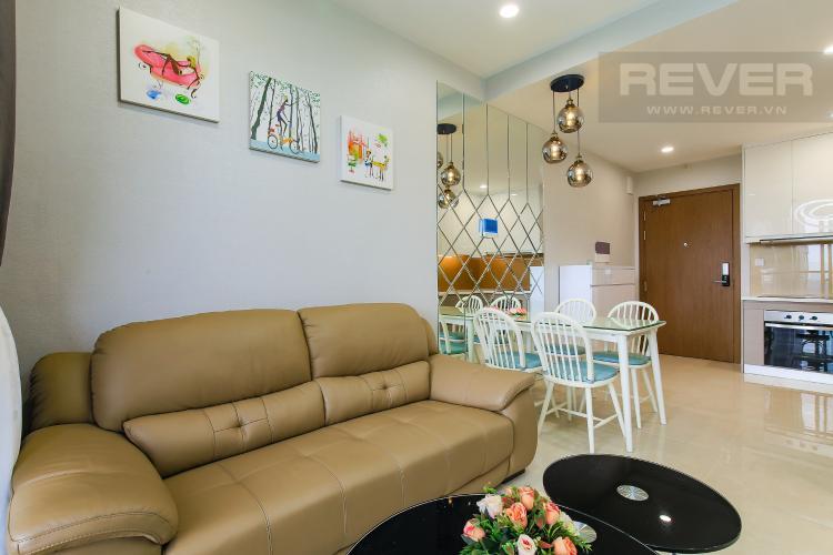 Phòng Khách Cho thuê căn hộ Masteri Millennium tầng cao, 2PN đầy đủ nội thất view sông