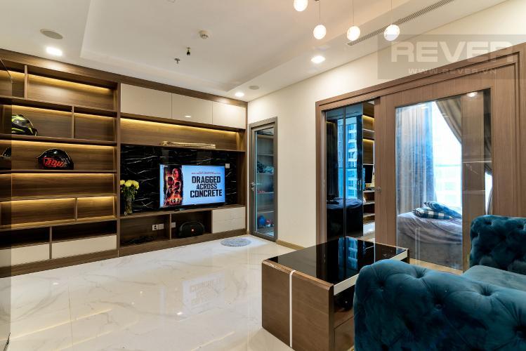 Phòng Khách Bán căn hộ Vinhomes Central Park 1 phòng ngủ, tầng trung, tháp Landmark 81, đầy đủ nội thất sang trọng