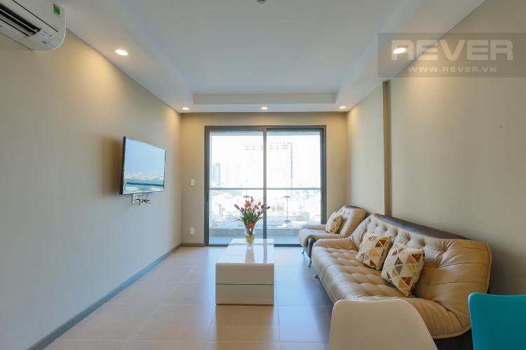 Phòng Khách Căn hộ The Gold View 2 phòng ngủ tầng thấp A3 view sông