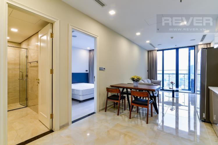 Phòng Khách Căn hộ Vinhomes Golden River 1 phòng ngủ tầng cao A3 đầy đủ nội thất