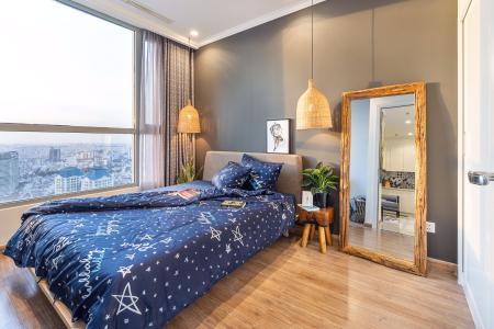 Cho thuê officetel Vinhomes Central Park tầng cao, diện tích 48.5m2 - 1 phòng ngủ, đầy đủ nội thất