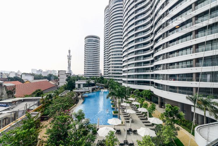 View Cho thuê căn hộ City Garden tầng thấp, 3PN đầy đủ nội thất, có thể dọn vào ở ngay