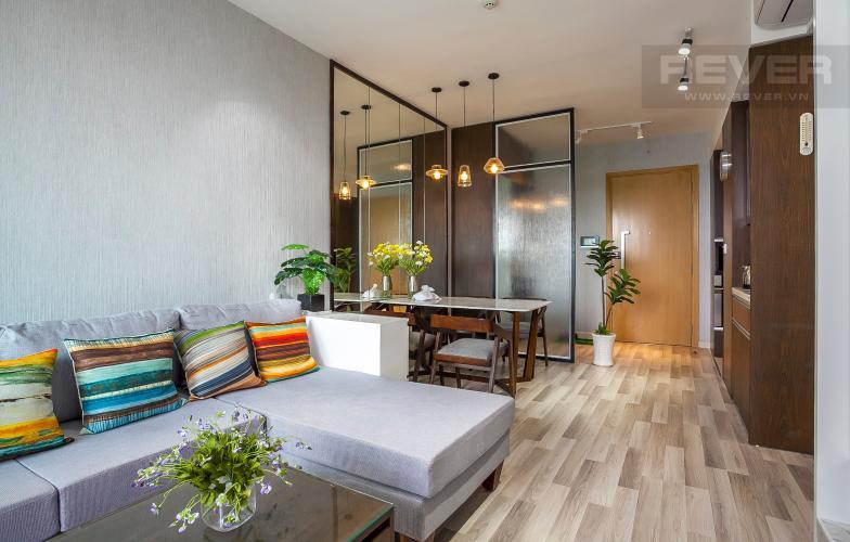Phòng Khách Căn hộ Vista Verde 2 phòng ngủ tầng cao T1 nội thất hiện đại