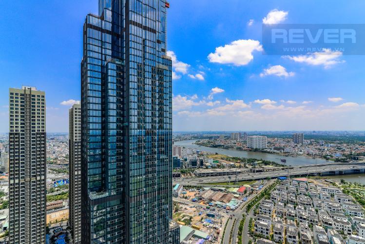 View Phòng Ngủ Căn hộ Vinhomes Central Park 4 phòng ngủ tầng cao L1 view sông