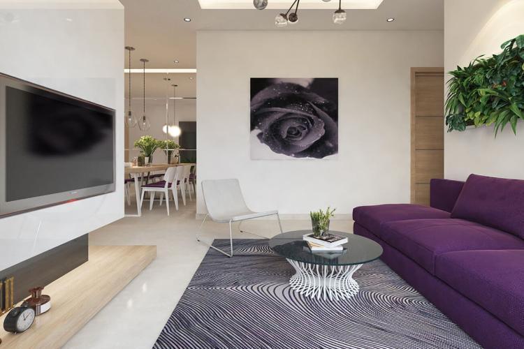 nhà mẫu dự án Centum Wealth Bán căn hộ Centum Wealth, nội thất cơ bản, diện tích 82.5m2
