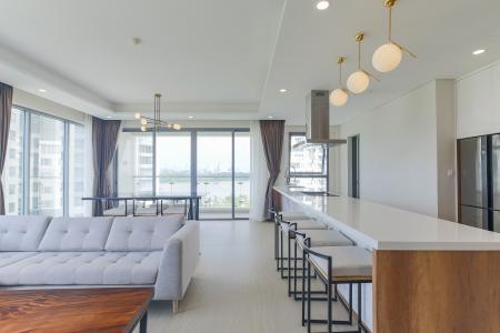 Cho thuê căn hộ Diamond Island - Đảo Kim Cương 3PN, tháp Bora Bora, đầy đủ nội thất, view sông thoáng mát
