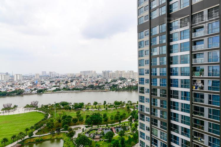 View Cho thuê căn hộ Vinhomes Central Park 2PN, đầy đủ nội thất, view sông, hướng Đông Nam đón gió