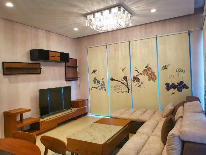 Phòng khách căn hộ Đảo Kim Cương Căn hộ Đảo Kim Cương tháp Hawaii 3 phòng ngủ view nội khu.