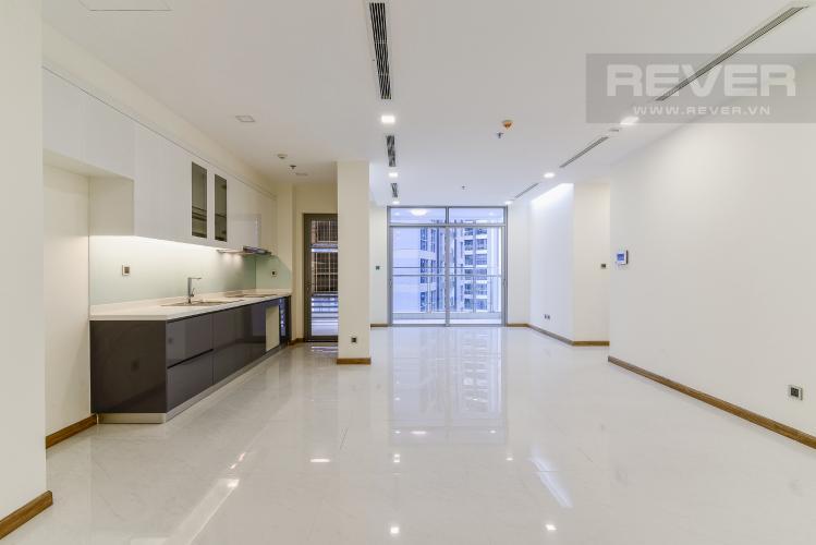 Phòng Khách Căn góc Vinhomes Central Park 3 phòng ngủ tầng trung P3 mới bàn giao