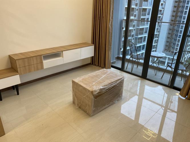 Phòng khách One Verandah Quận 2 Căn hộ One Verandah tầng 12, đầy đủ nội thất, view thành phố.