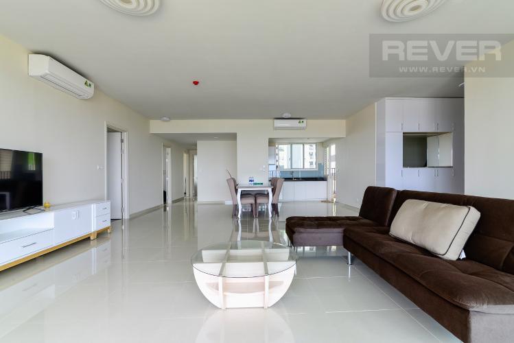 Phòng Khách Cho thuê căn hộ Vista Verde 4PN, view sông thoáng mát