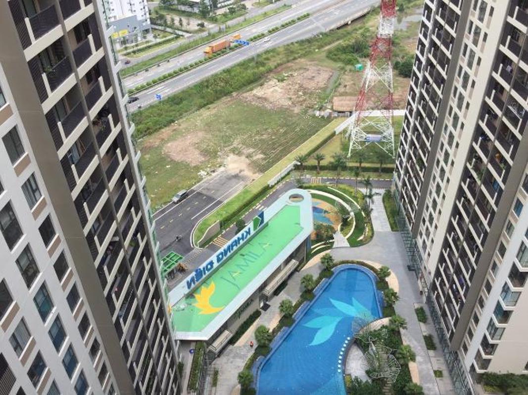 phoicanh-1 Bán căn hộ Jamila Khang Điền 2PN, tầng cao, block B, không có nội thất, view hồ bơi