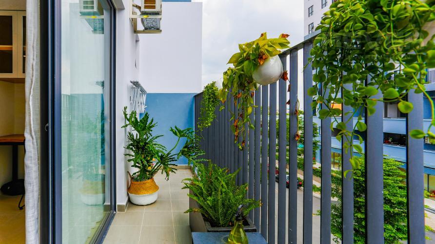 Ban Công Căn hộ M-One Nam Sài Gòn 2 phòng ngủ tầng thấp T2 hướng Bắc
