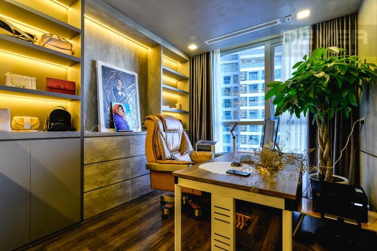 Phòng Làm Việc Căn hộ Vinhomes Central Park 2PN đầy đủ nội thất, view sông Sài Gòn