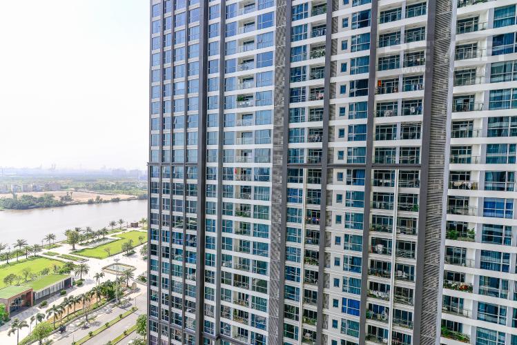 View Căn hộ Vinhomes Central Park tầng trung view sông 2PN, full nội thất