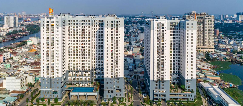 Chung cư M-One Nam Sài Gòn, Quận 7 Căn hộ M-One Nam Sài Gòn bàn giao đầy đủ nội thất, view thành phố.