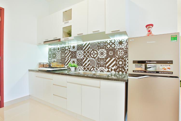 Căn hộ Topaz Home 2 tầng thấp, bàn giao nội thất cơ bản.