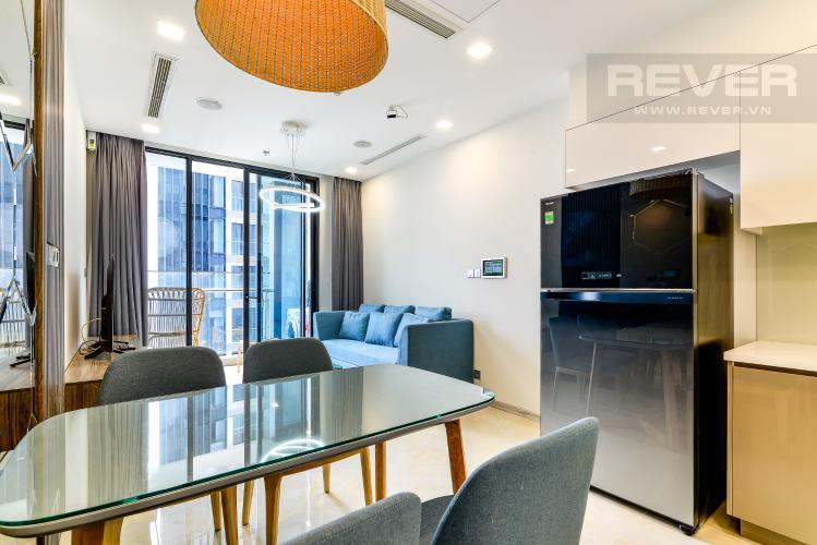 Phòng Khách Căn hộ  Vinhomes Golden River tầng cao 1 phòng ngủ, 55m2, full nội thất