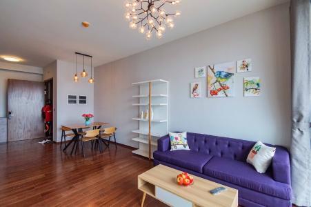 Cho thuê căn hộ D'Edge view thành phố thoáng mát, đầy đủ nội thất.