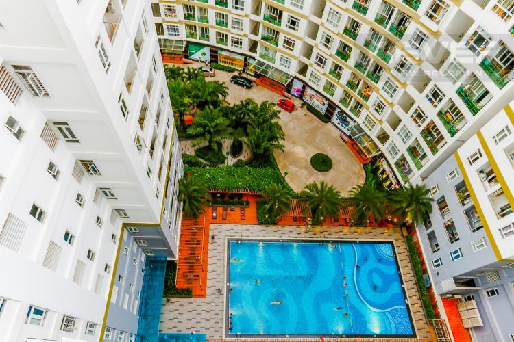 View Hồ Bơi Nội Khu Căn hộ Him Lam Riverside 2 phòng ngủ tầng trung nội thất đầy đủ