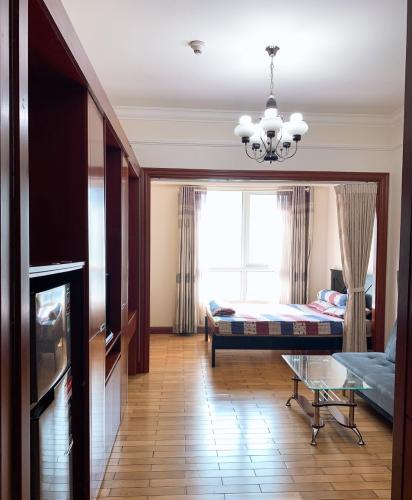 Phòng khách , Căn hộ The Manor , Quận Bình Thạnh Căn hộ cao cấp The Manor tầng 17 thiết kế hiện đại kèm sàn gỗ.