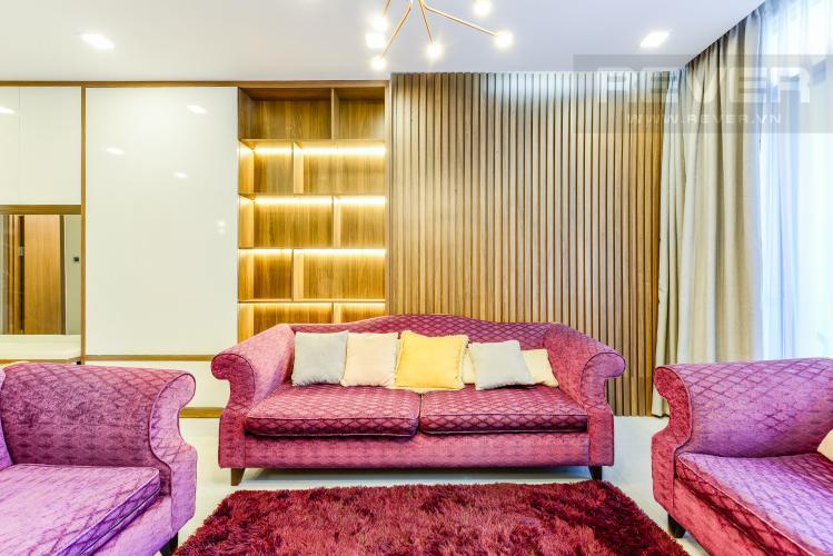 Phòng khách Bán căn hộ Vinhomes Central Park giá tốt, 2PN, đầy đủ nội thất
