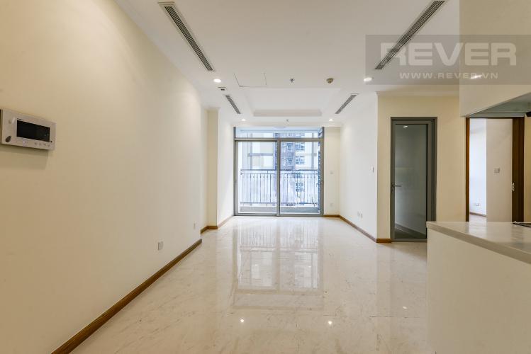 Phòng khách Căn hộ Vinhomes Central Park 2 phòng ngủ tầng cao L4 không nội thất