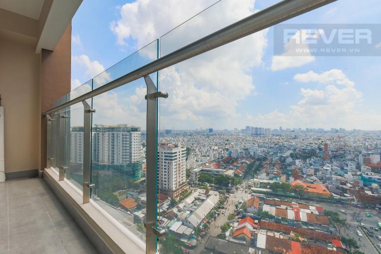 Balcony Bán căn hộ Masteri Millennium tầng cao, block B, 3PN đầy đủ nội thất