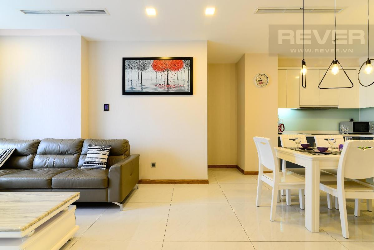 1 Cho thuê căn hộ Vinhomes Central Park 2PN, diện tích 85m2, đầy đủ nội thất, view mé sông và công viên