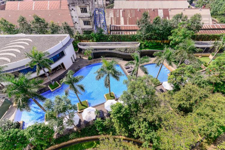 View Căn hộ City Garden 1 phòng ngủ tầng thấp B2 đầy đủ tiện nghi