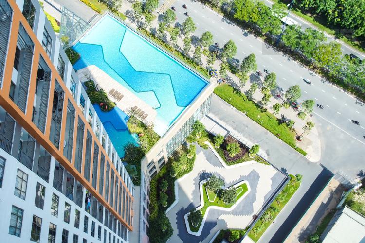 View Nội Khu Bán căn hộ The Sun Avenue 3PN, block 4, nội thất cơ bản, view hồ bơi và Landmark 81