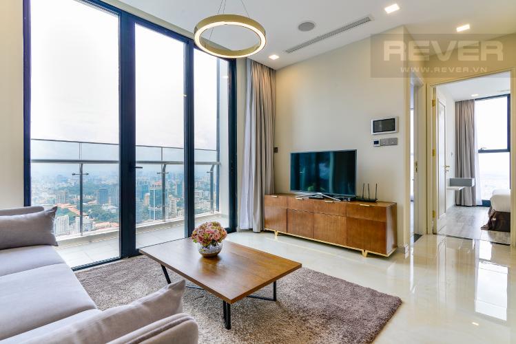 Phòng Khách Cho thuê căn hộ Vinhomes Golden River tầng cao, 2PN, đầy đủ nội thất, view đẹp