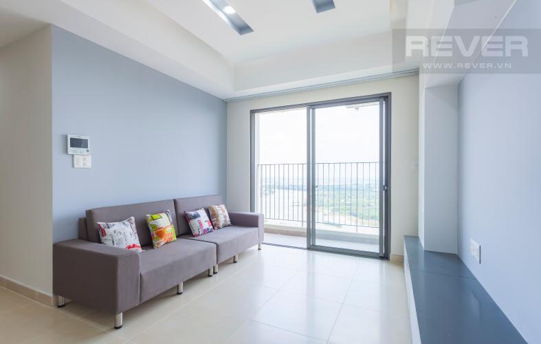 Sofa phòng khách Căn hộ Masteri Thảo Điền tầng cao T4B 3 phòng ngủ, nội thất tinh tế