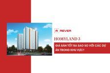 Infographic: So sánh giá bán dự án Homyland 3 với các dự án khác trong khu vực