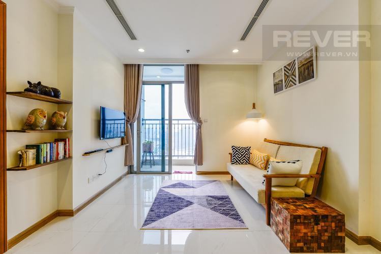 Phòng khách Cho thuê căn hộ Vinhomes Central Park tầng cao, view đẹp, đầy đủ nội thất