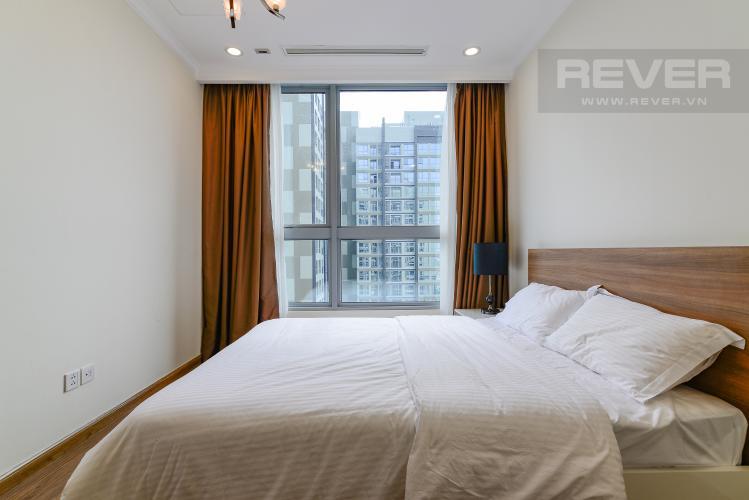 Phòng Ngủ 2 Cho thuê căn hộ Vinhomes Central Park 2PN 2WC, nội thất cơ bản, view sông