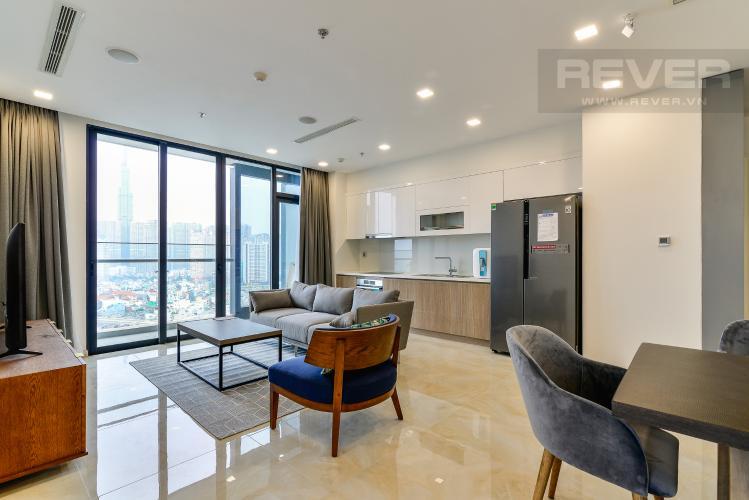 Phòng Khách Cho thuê căn hộ Vinhomes Golden River tầng cao 3PN view sông