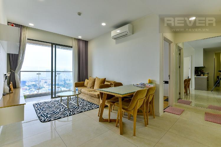 Phòng khách căn hộ MASTERI MILLENNIUM Bán căn hộ Masteri Millennium 2PN, tầng cao, đầy đủ nội thất, ban công hướng Nam